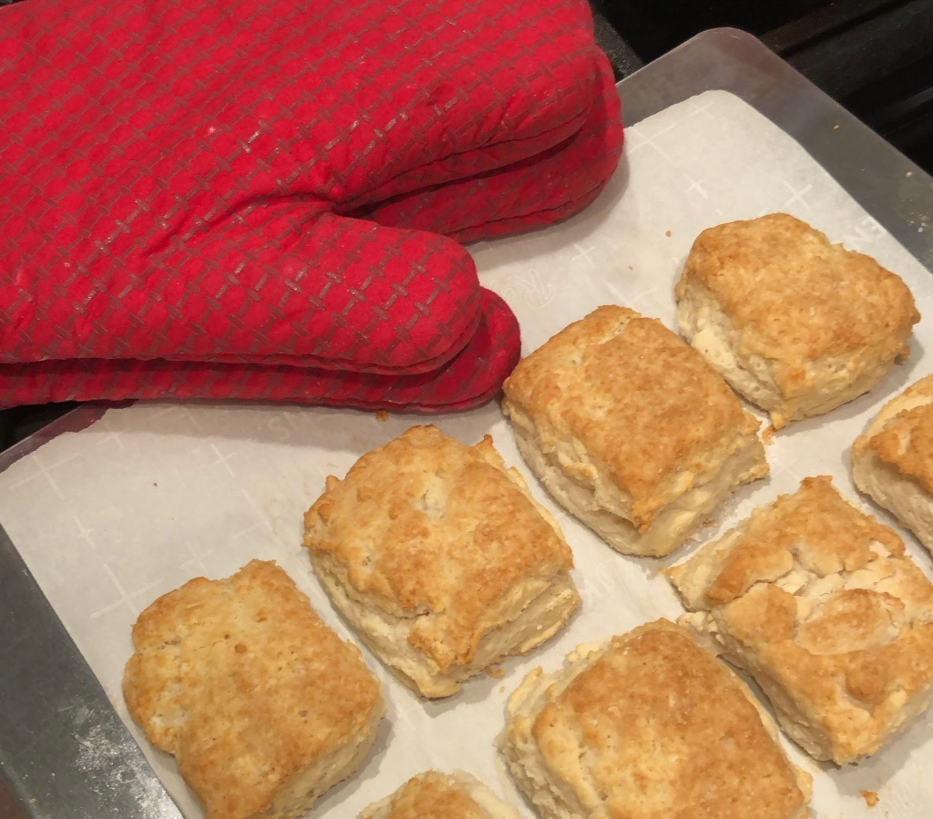 Buttermilk Biscuits right out of the oven.