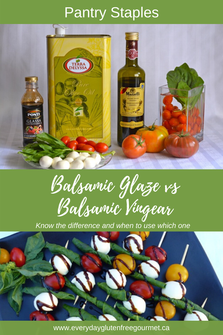 Balsamic Glaze vs Balsamic Vinegar, learn how to use these two 'must have' ingredients in every pantry.