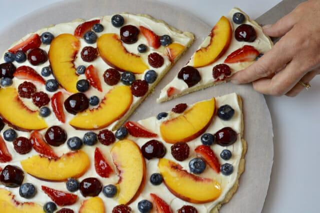 Glazed Fresh Fruit Pizza
