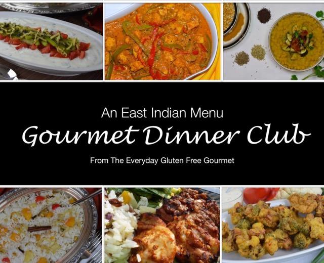 East Indian Gourmet Dinner Club Menu
