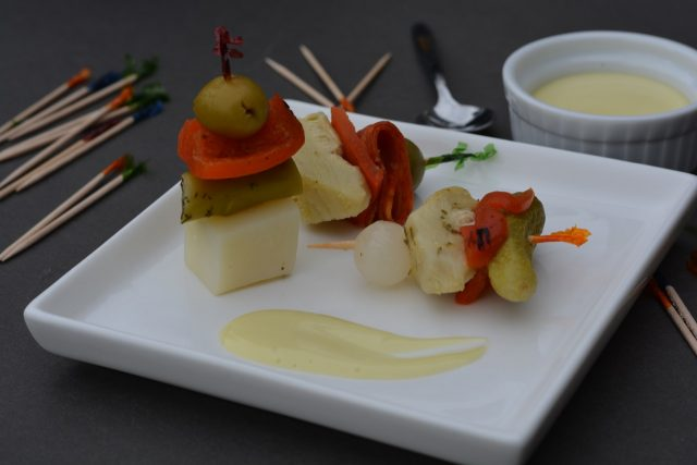 Spanish Banderillas are tapas, the little dishes of Spain.