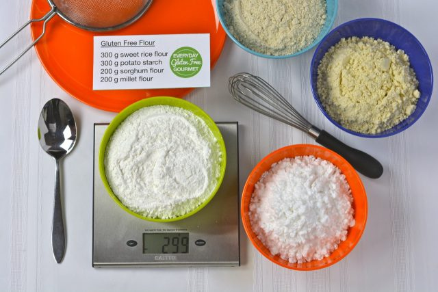 The four flour and starch combination for my gluten free flour mix