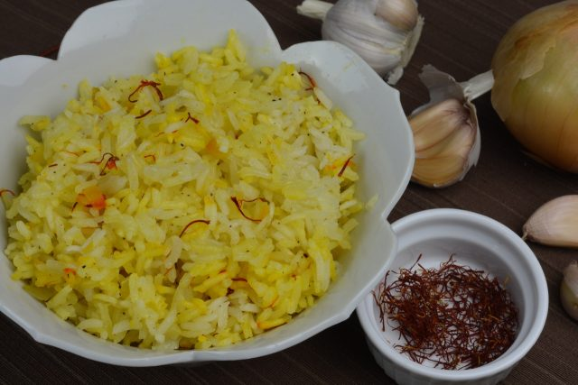 A dish of fragrant Saffron Rice