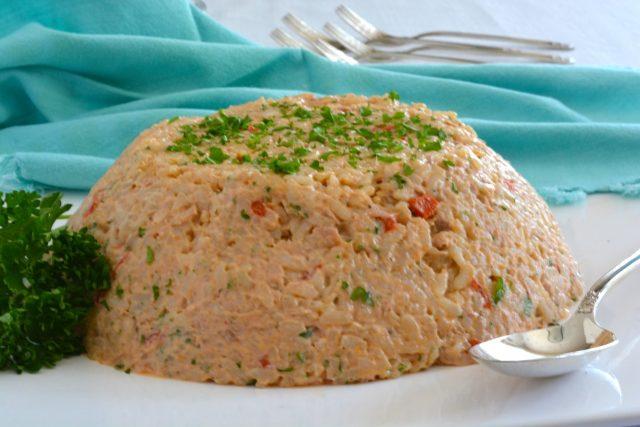 A cold tapa, Summer Rice Salad.