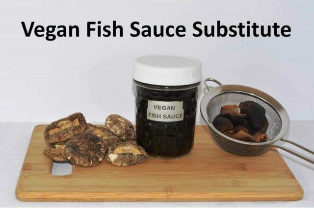 A jar of a Vegan Fish Sauce Substitute