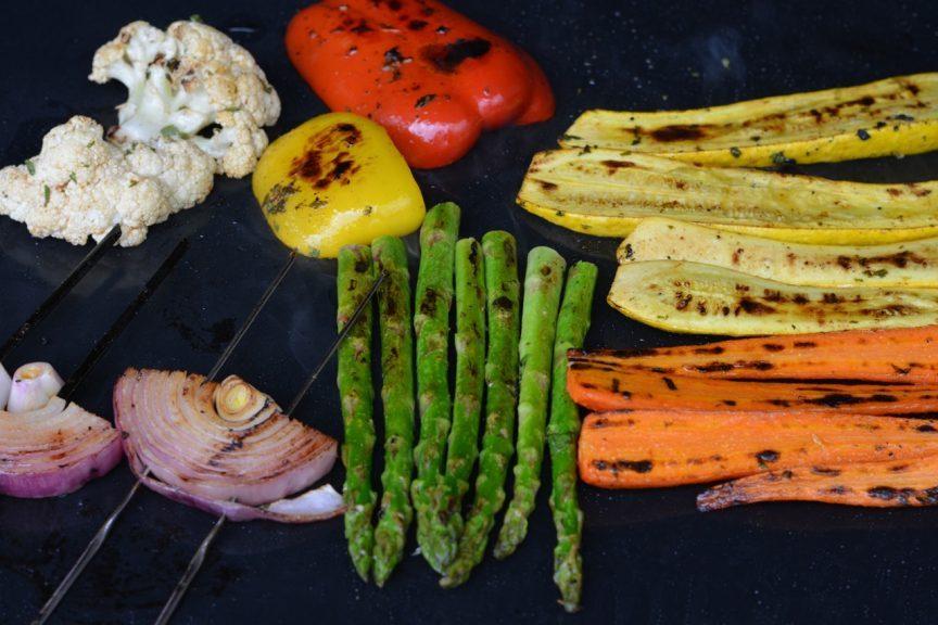 Vegetables on a Reusable Grilling Sheet