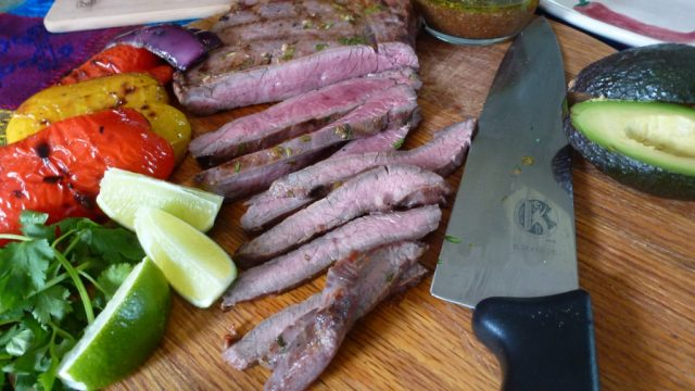 This Grilled Flank Steak with Chipotle-Honey Sauce