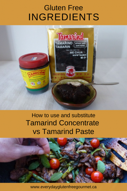 Tamarind Concentrate vs Tamarind Paste, how to use and substitute these ingredients in everyday cooking.