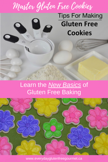 Learn the new basics for gluten free baking and enjoy making all your favourite cookies.