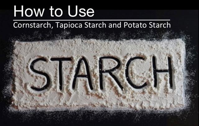 The word 'starch' drawn through cornstarch on a black background.