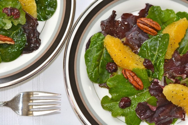 A close up of Cranberry Orange Lettuce Salad