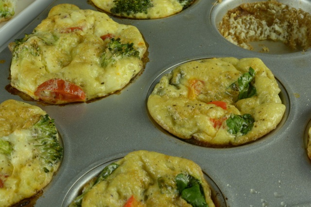 Close up of Fluffy Egg Muffins
