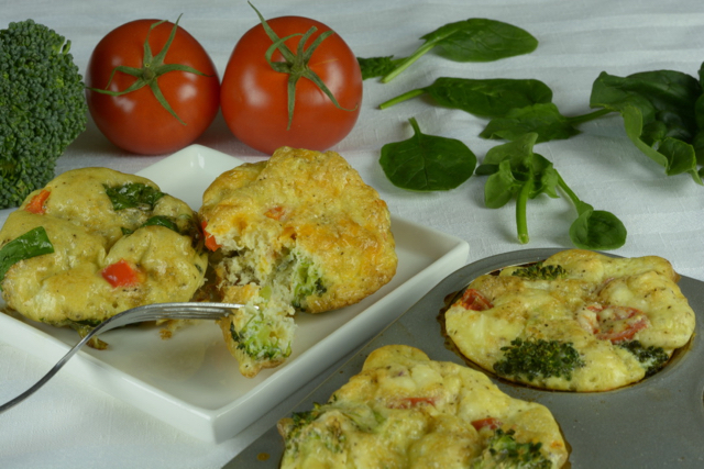 Fluffy Egg Muffins on a plate ready to eat