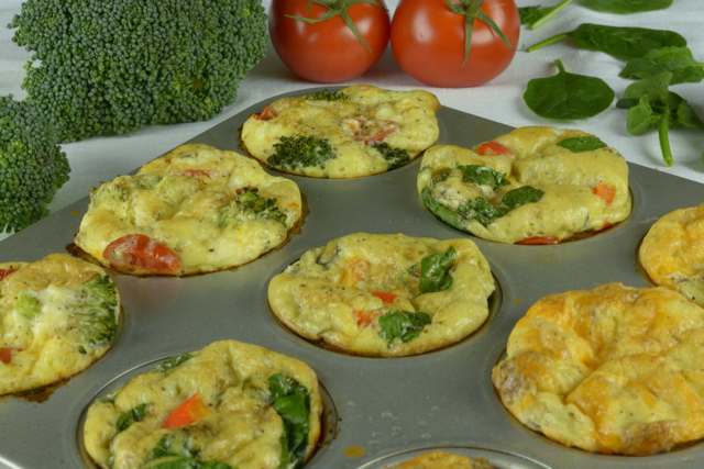 Egg Muffins in a muffin tin ready to eat.