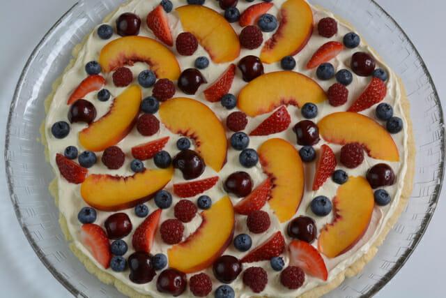 Unglazed gluten free Fruit Pizza