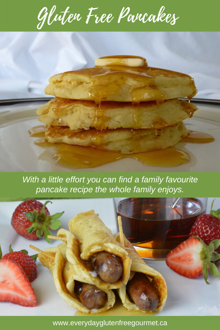 Gluten Free Pancakes and Pigs in a Blanket