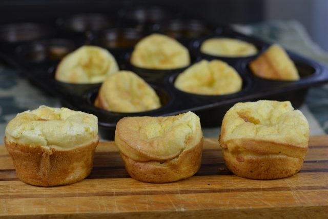 Gluten Free Yorkshire Pudding hot from the oven.