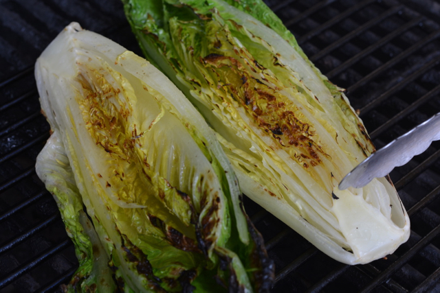 Grilled Romaine for Deconstructed Grilled Caesar Salad