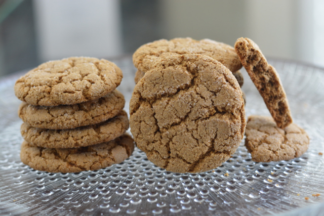 A stack of Molasses Ginger Cookies