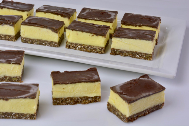 A tray of Nanaimo Ice Cream Bars