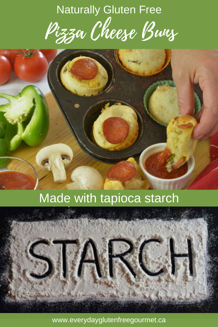 Pizza Cheese Buns made with tapioca starch