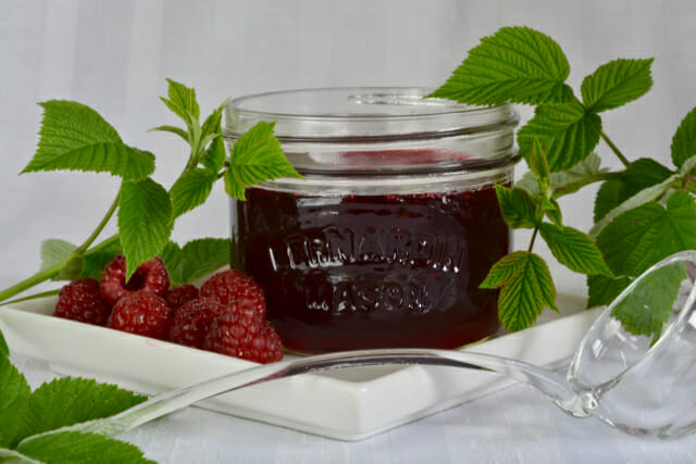 Raspberry Sauce, perfect to pour over ice cream, brownies or grilled peaches.