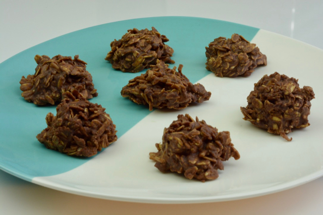 A plate showing the classic Canadian cookie, gluten free Uncooked Dainties