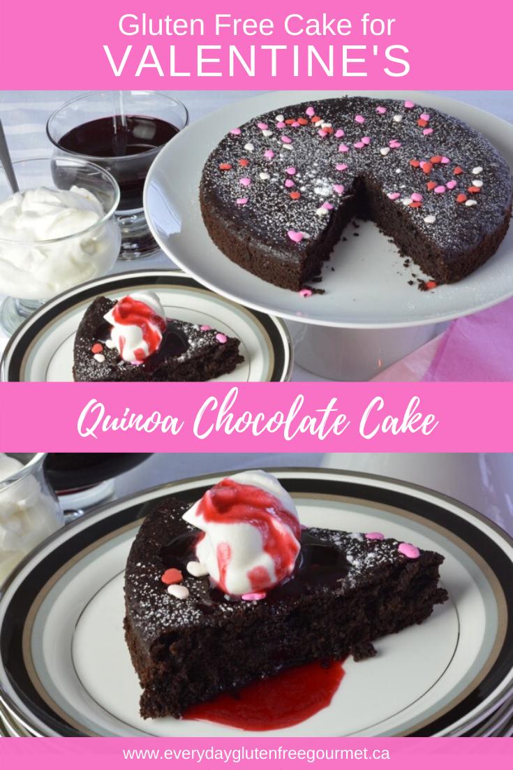 Quinoa Valentine's Chocolate Cake