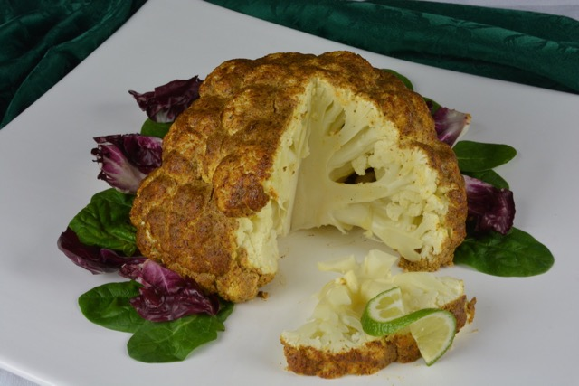 Whole Roasted Cauliflower with East Indian spices