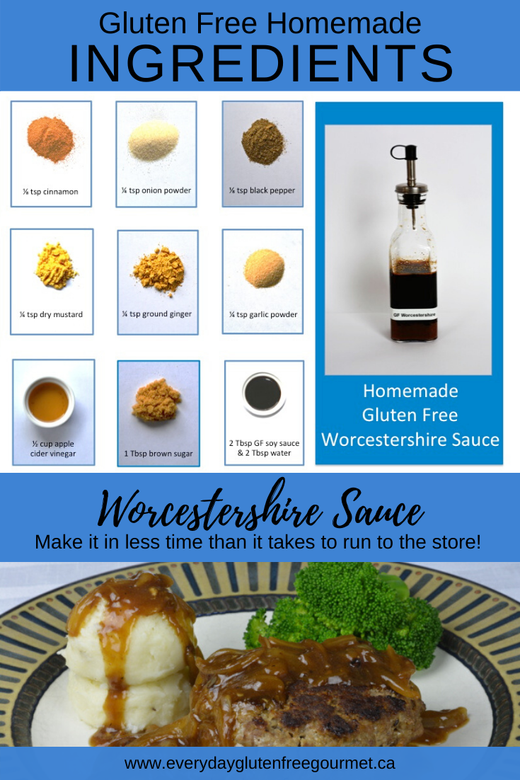 A picture of all the ingredients to make homemade Worcestershire sauce