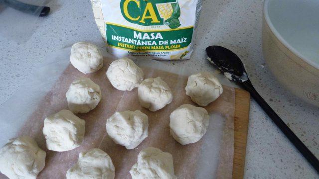 Gluten Free Masa Harina made into balls