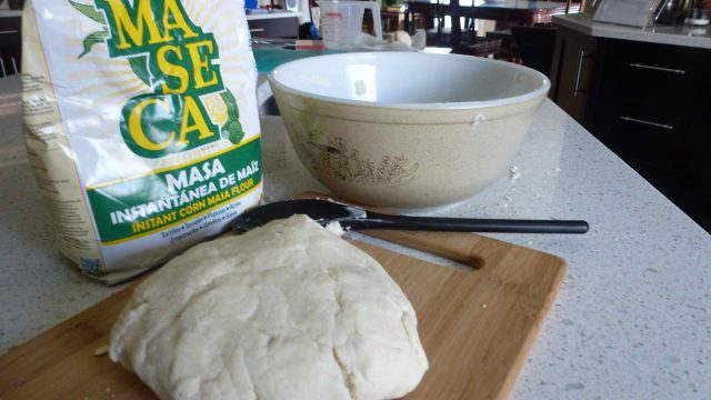 Gluten free corn tortillas made with masa harina