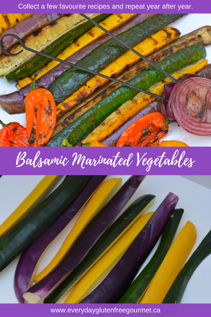 Balsamic Marinated Vegetables, a marinade that brings late summer squash to life.