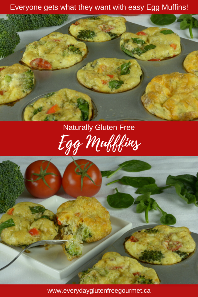 Egg Muffins Three Ways, everyone gets to have their favourite additions.