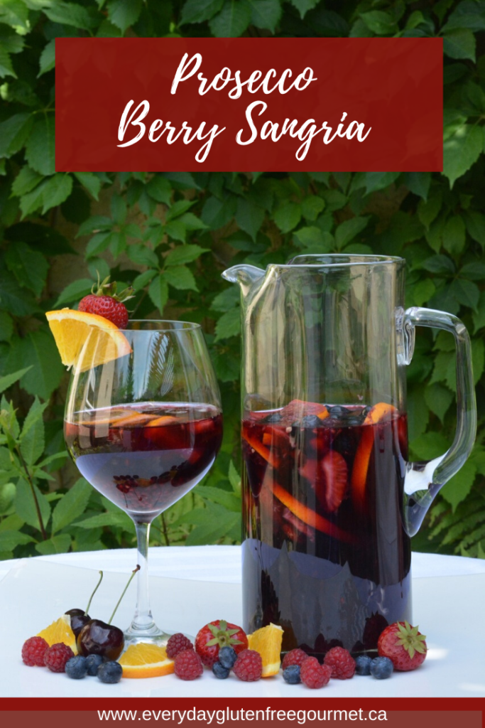 Prosecco Berry Sangria, the perfect summer drink.