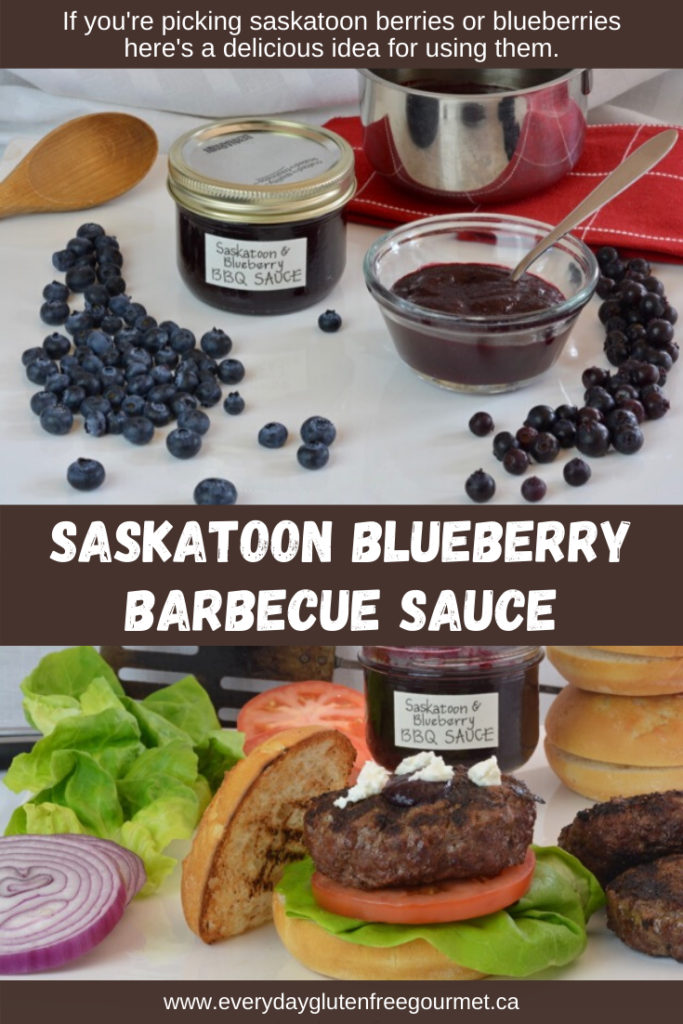 Saskatoon Blueberry Barbecue Sauce is perfect for bison burger, grilled pork or chicken.