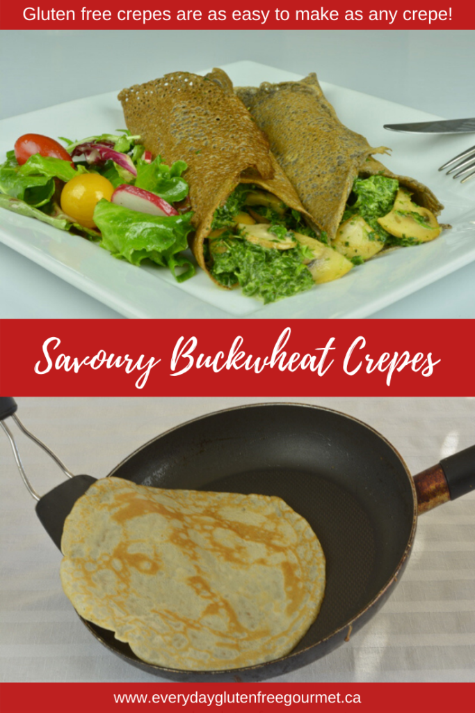 Savoury Buckwheat Crepes make a perfect brunch dish.