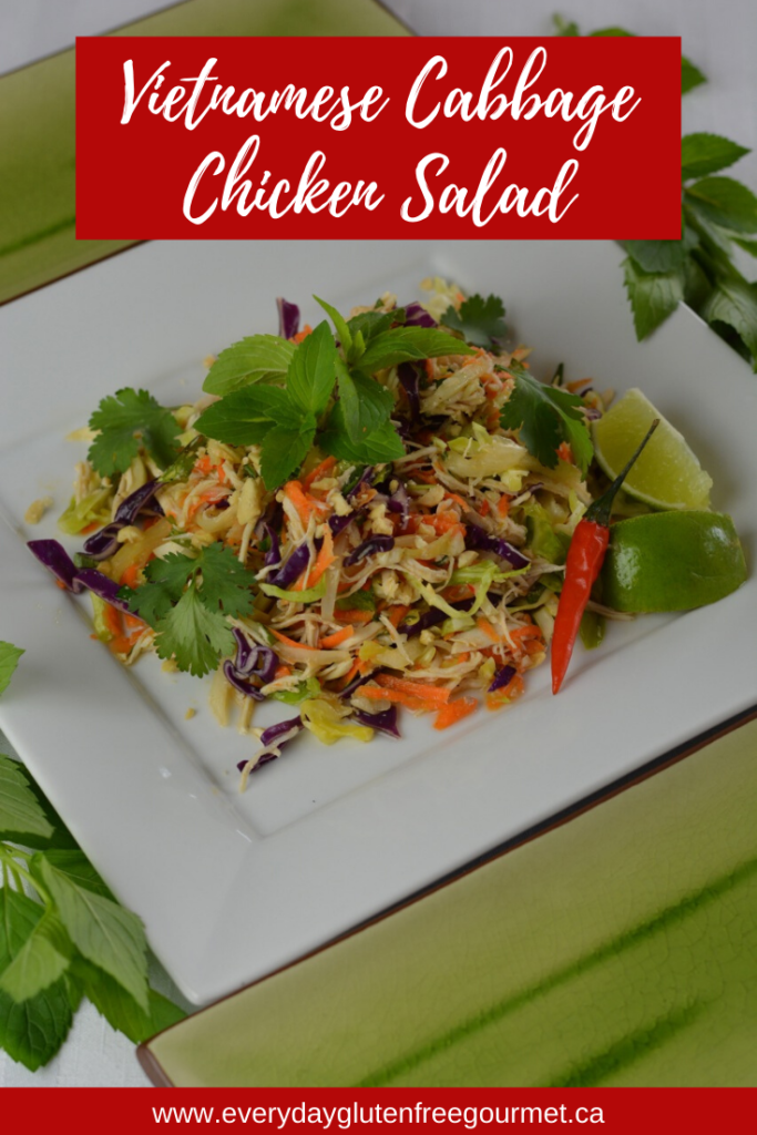 Vietnamese Cabbage Chicken Salad is a perfect summer lunch or dinner with all the fresh tastes of Vietnam.
