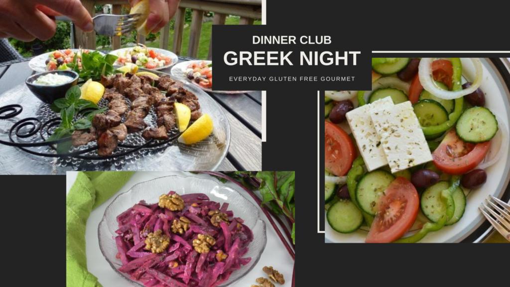 Dinner Club - A menu for Greek Night