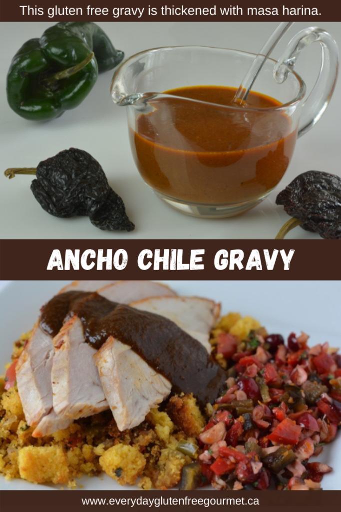 Gluten free Ancho Chile Gravy, worth the effort!