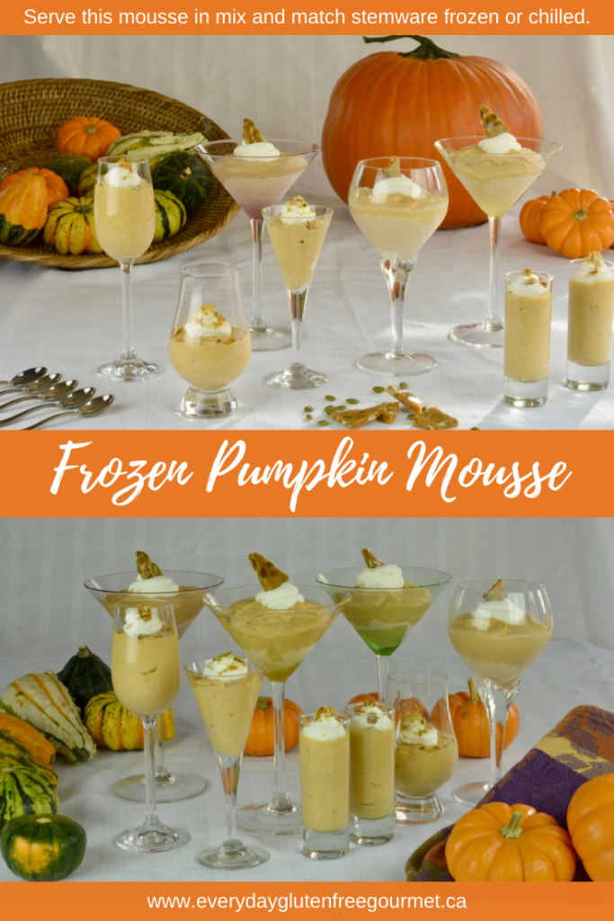 Frozen Pumpkin Mousse is perfect for any fall dinner.