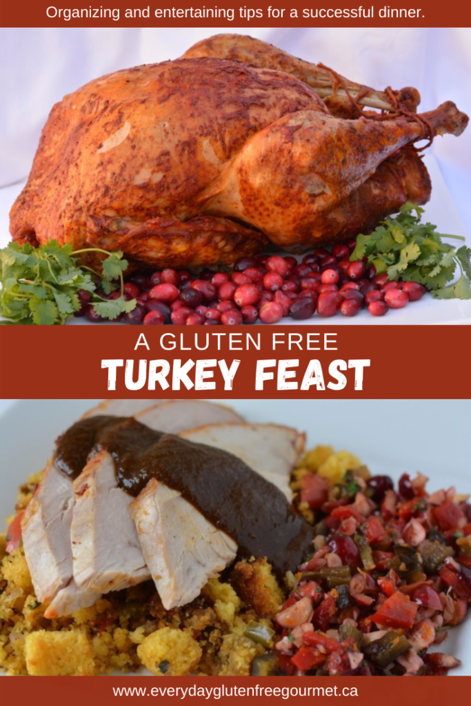 Organizing and entertaining tips to host a Gluten Free Turkey Feast