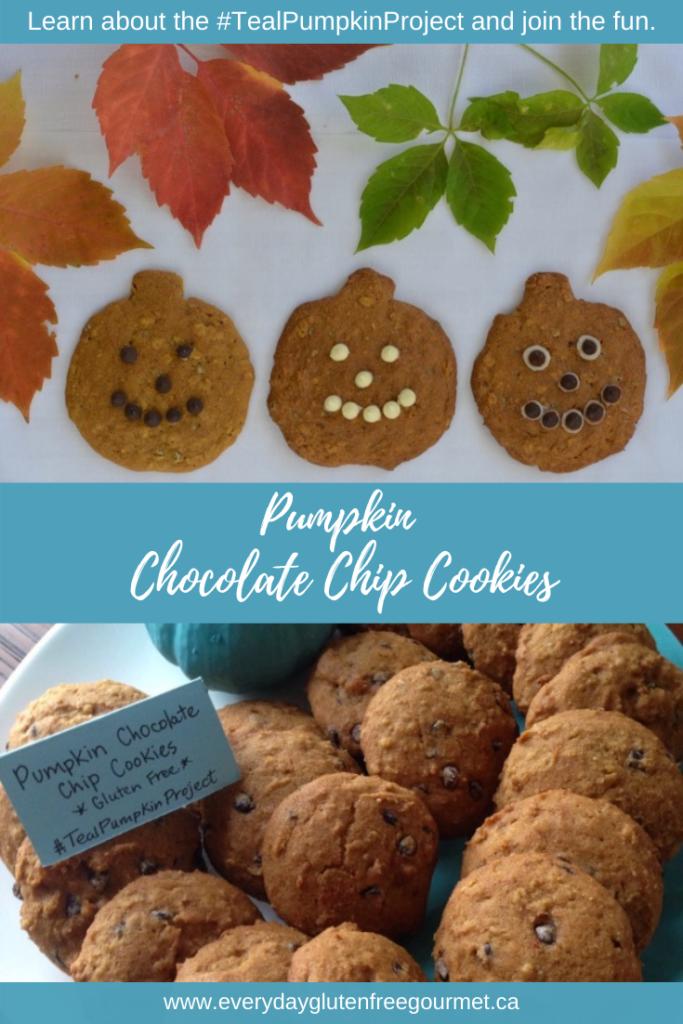 Pumpkin Chocolate Chip Cookies make perfect Jack-o'-lanterns.