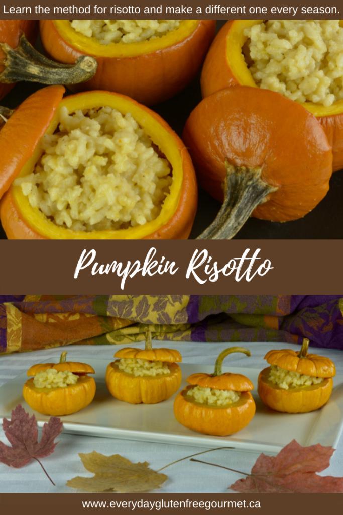 Pumpkin Risotto served in pumpkins for a stunning presentation.