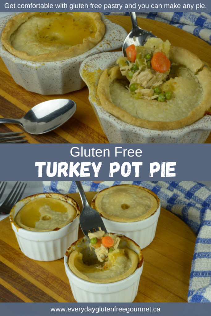 Turkey Pot Pie with a gluten free pastry top.