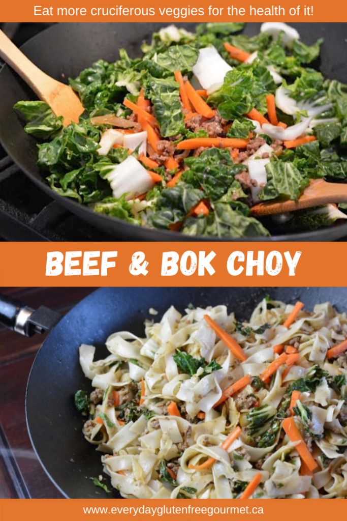 Beef and Bok Choy, an easy everyday meal.