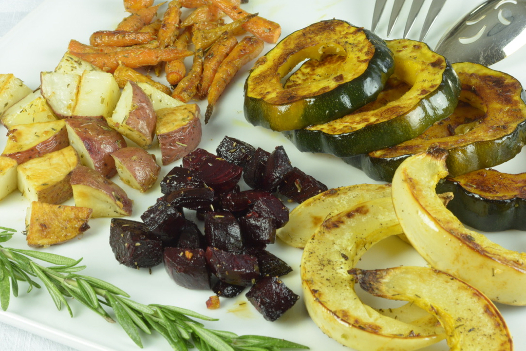 A platter of Roasted Root Vegetables