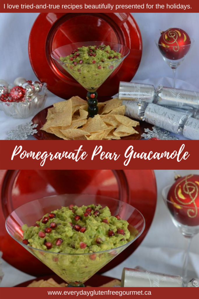 Perfect for the holidays, Pomegranate Pear Guacamole