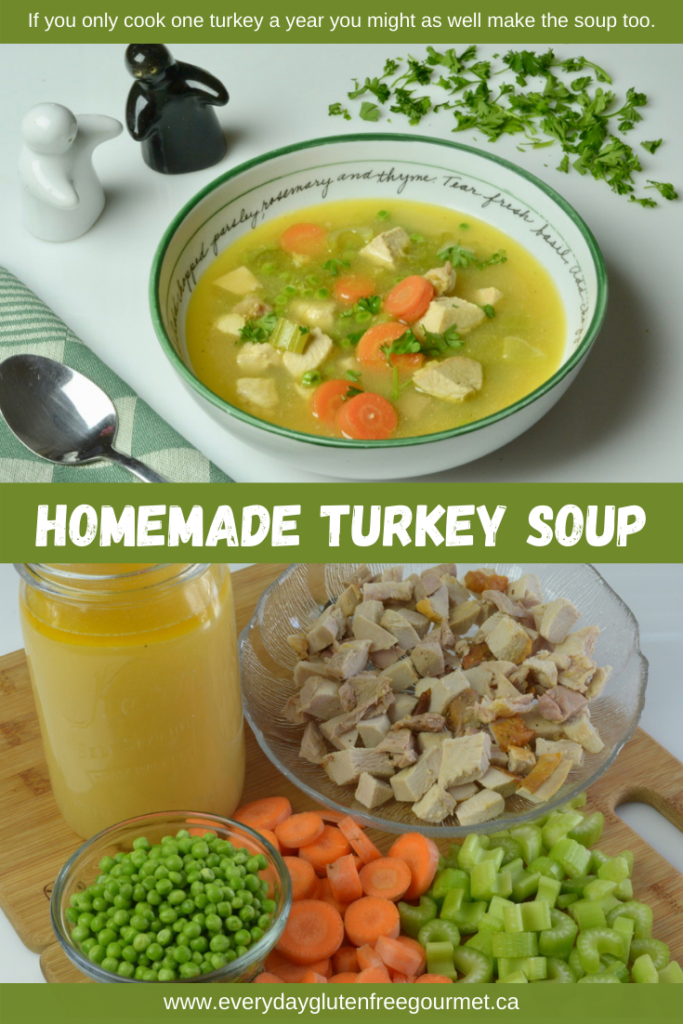 Homemade Turkey Soup from leftover turkey, it's worth the effort!