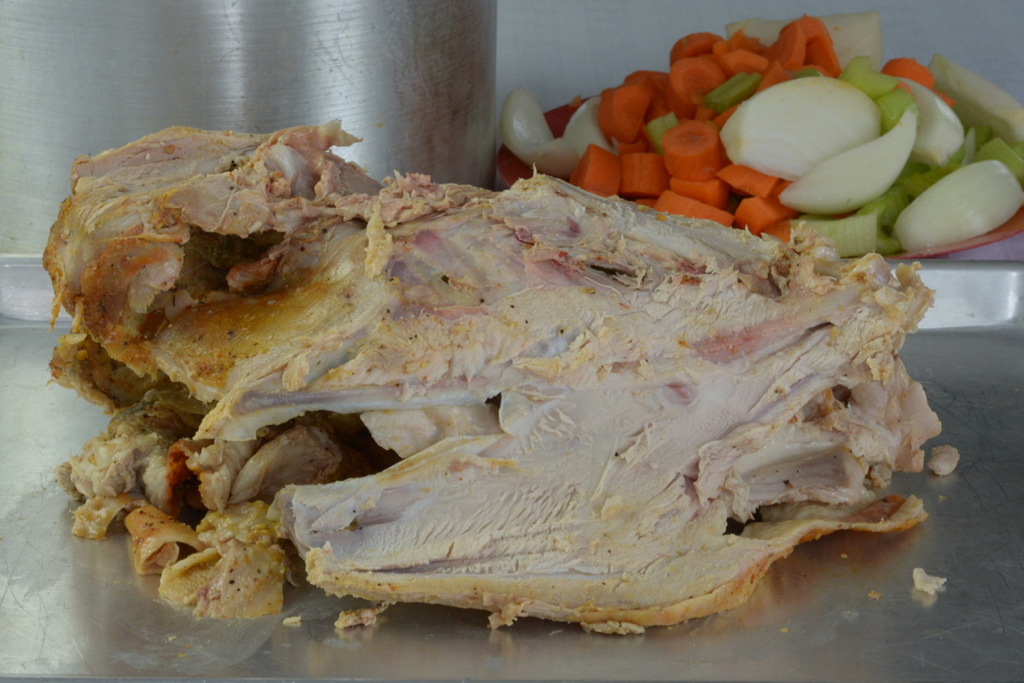Cooked Turkey Carcass for making stock